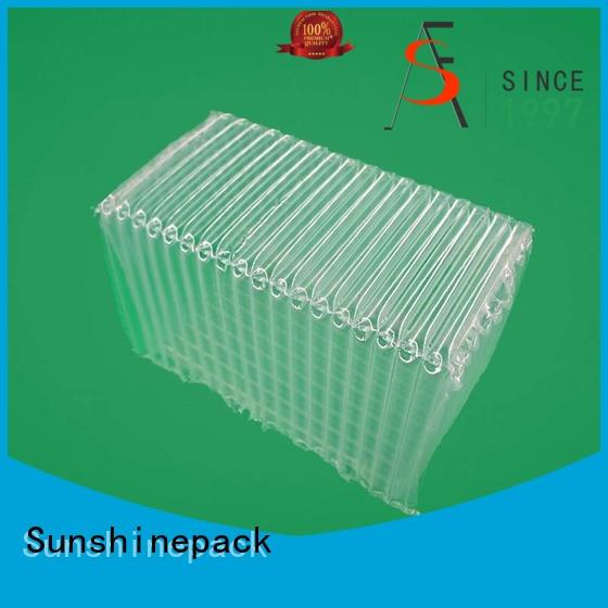 Sunshinepack material bubble sheet column for delivery