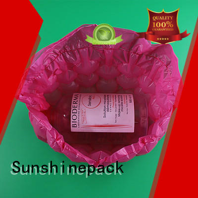 Sunshinepack suitable air bubble film roll packaging for logistics