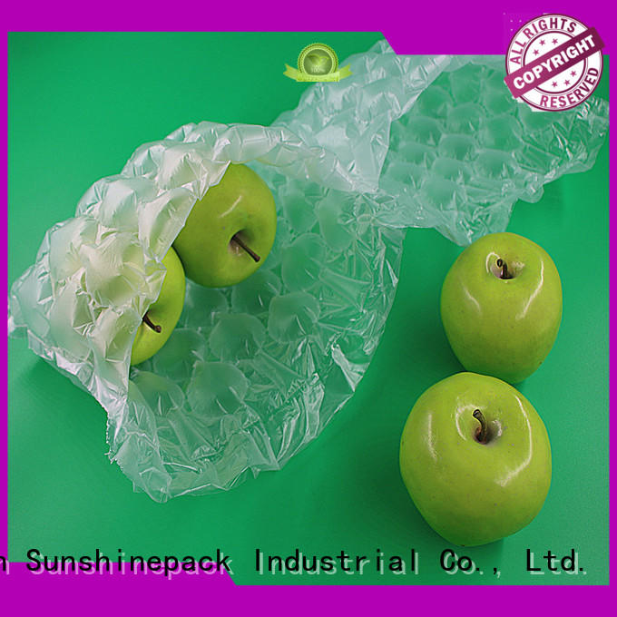 Sunshinepack pollution-free air pillow packaging bubble packaging for womens bag