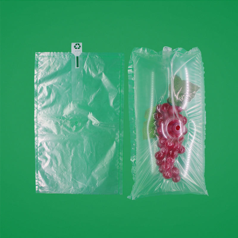 Bag-in-bag airbag package of grape, great packing solution for grape and other fruits,cushioning protective packaging material, shock-proof