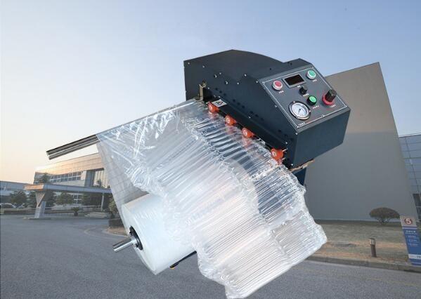 Inflate machine CLUQ-01,Multi-function Automatically inflate machine of AIR COLUMN ROLL,U/L/Q STYLE AIR COLUMN BAG IN ROLL.Q style air bag inflate machine