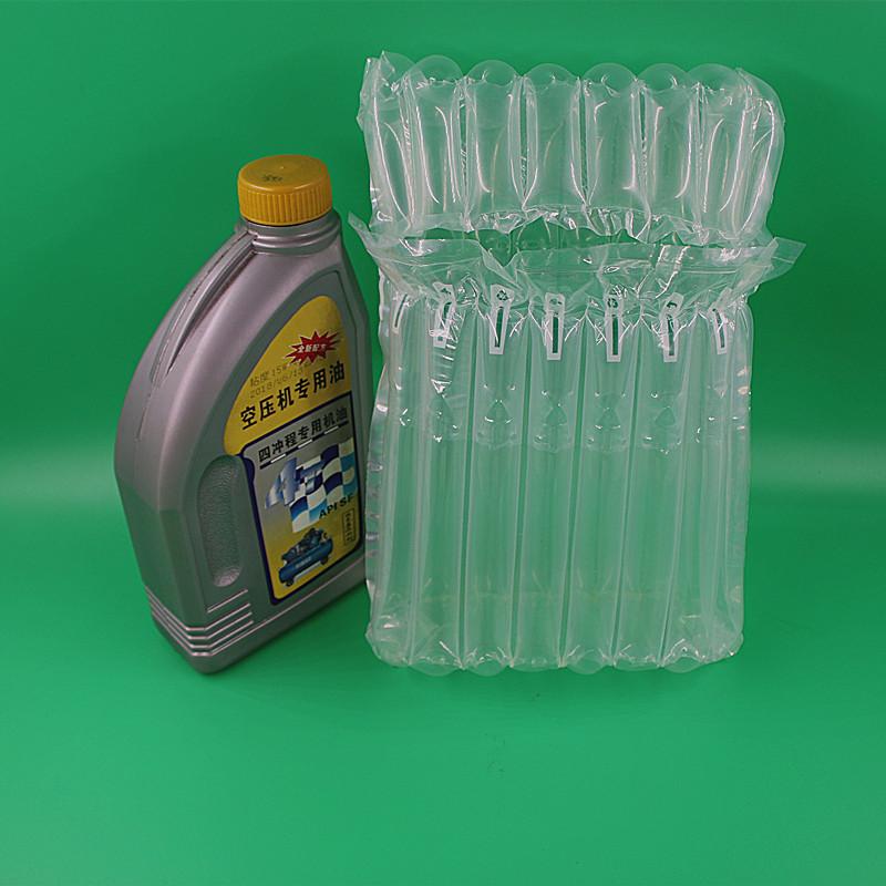 Engine Oil /auto parts air column cushion packaging solution,best packing solution of engine oil and auto parts