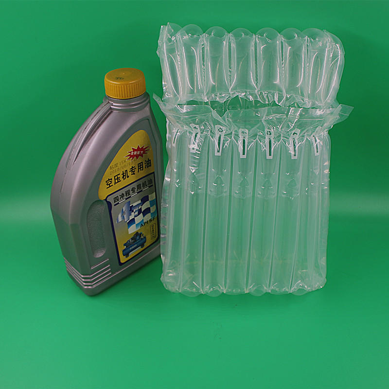 Engine Oil /auto parts air column cushion packaging solution,best packing solution of engine oil and auto parts