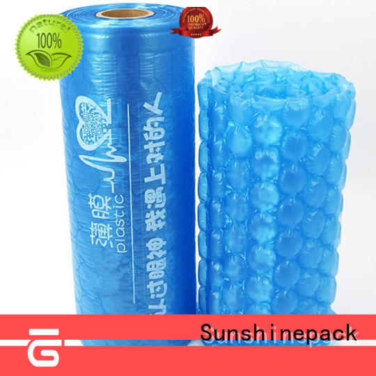 Sunshinepack logo pattern air fill packaging machine company for transportation
