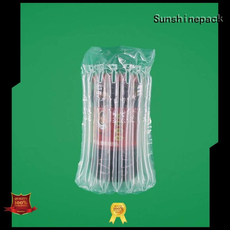 U-shaped air column bag of capsicum sauce , cushioning and shock-proof express delivery protective bag,explosion-proof and crushing-proof air bag packing