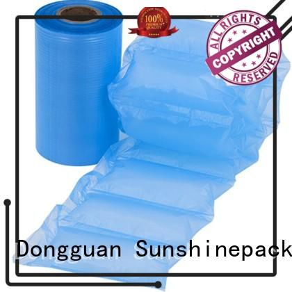 roll packaging air cushion bag logo pattern for logistics Sunshinepack